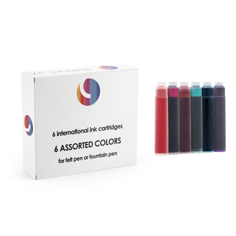 6 international assorted colors cartridges