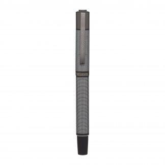 Grey silver grid felt-tip pen